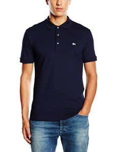 72c14967db Lacoste PH4014-00 – Polo – Homme, Bleu – Blau (NAVY BLUE 166), Large