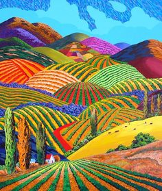 Gene Brown - Artist, Fine Art Prices, Auction Records for Gene Brown Landscape Quilts, Abstract Landscape, Landscape Paintings, Abstract Art, Art And Illustration, Illustrations, California College Of Arts, Brown Art, David Hockney