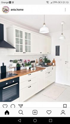 Wonderful No Cost inexpensive Kitchen Countertops Popular Kitchen Countertops set the tone for your kitchen, so choose materials and a look that not merely re Apartment Kitchen, Home Decor Kitchen, Interior Design Kitchen, New Kitchen, Home Kitchens, Cherry Kitchen, Kitchen Ideas, Small Kitchens, Stone Kitchen
