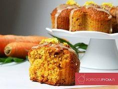 Muffinki marchewkowe zlukrem cynamonowym