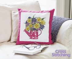Floral fancy – cross stitch a bright bouquet design with beautiful detail… This lovely project by Kate Knight will bring a wonderful ray of sunshine to your home. It's only in the new issue 219 of The World of Cross Stitching magazine