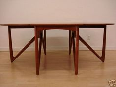 Danish modern --Kurt Ostervig drop-leaf dining table - Craigs
