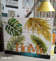 Decoupage Paper, Cactus, Mixed Media, Artsy, Country, Craft Box, Diy And Crafts, Breakfast Tables, Pallet