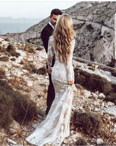 Wedding Dresses Wedding Dresses Lace Wedding Dresses Vintage Wedding Dresses With Sleeves Wedding Dresses Mermaid Wedding Dresses 2018 Long Wedding Dresses, Long Sleeve Wedding, Wedding Dress Sleeves, Boho Wedding Dress, Wedding Gowns, Bride Dresses, Homecoming Dresses, Party Dresses, Bridesmaid Dresses