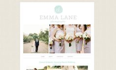 Blogger Template Premade Blog Theme for Photography, with Image Slideshow, 1 Column - Emma Lane