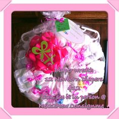 Anita's Diaper Wreath