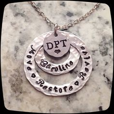 Physical Therapist  Gift, DPT, PT, PTA, Physical Therapy Staff, Rehab Office Professional Necklace, pt Month Gift