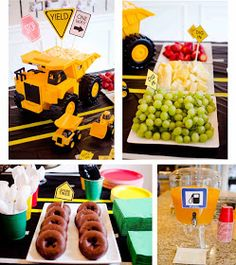 Transportation construction themed first birthday party