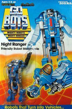 "gobots night ranger   GoBots ""Night Ranger"" Transforming Robot (Tonka)"