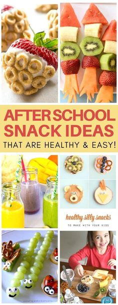 snacks These after school snack ideas for kids are SO creative! I love how quick & easy. These after school snack ideas for kids are SO creative! I love how quick & easy the recipes are and they are super healthy snack ideas plus food crafts in one! Snacks To Make, Healthy Snacks For Kids, Healthy Drinks, Snack Ideas For Kids, Food Ideas, Diy Food, Healthy Recipes For Kids, Creative Snacks, Super Healthy Kids