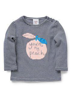 Baby Girls Shirts Tops Tees | Peachy Long Sleeve Tee | Seed Heritage