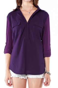Everyday Top in Purple