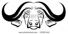 Animals For > African Buffalo Head Drawing Embroidery Files, Embroidery Designs, African Buffalo, Names Tattoos For Men, Big Six, Arctic Animals, Line Drawing, Line Art, Metal Working