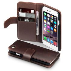 iPhone 6S Case, Terrapin [GENUINE LEATHER] iPhone 6S Case Executive [Brown] Premium Wallet Case with Card Slots & Bill Compartment Case for iPhone 6 / 6S - Brown