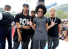 LOS ANGELES, CA - JUNE 30: (L-R) Ray Ray, Roc Royal, Princeton, and Prodigy of Mindless Behavior perform onstage at 106 & Park Stage Pre-Show during the BET Awards at Nokia Theatre L.A. Live on June 30, 2013.