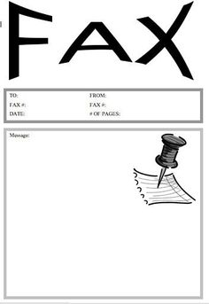 Fax Cover Letter Template PrintableFax Cover Sheet Template