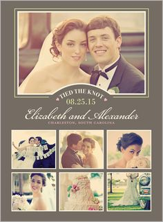 Tied The Knot Collage 6x8 Stationery Card by Yours Truly