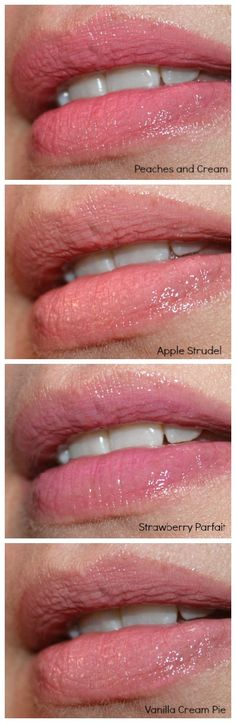 NYX butter gloss lip swatches