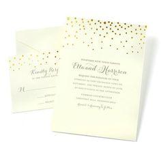 Gartner Studios Dot Invitations - $17.97 for 50 piece set of invitation paper, envelopes, response paper and response envelopes - print yourself