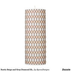 Rustic Beige and Gray Diamond Shape Pattern