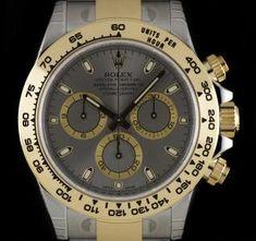 Rolex Unworn Daytona Stainless Steel & Yellow Gold Slate Grey Dial B&P 116503 Rolex Daytona Watch, Cosmograph Daytona, Used Rolex, Vintage Rolex, Patek Philippe, Breitling, Fashion Watches, Rolex Watches, Slate