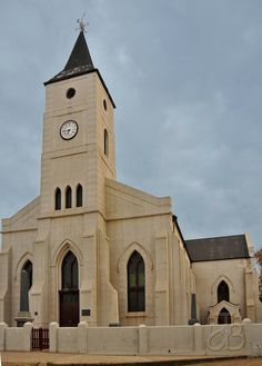 Dutch Reformed church of Philippolis, Eastern Cape, South Africa. Photo by JdB. Church Architecture, Religious Architecture, Church Pictures, Old Churches, Church Building, Place Of Worship, Kirchen, South Africa, Around The Worlds