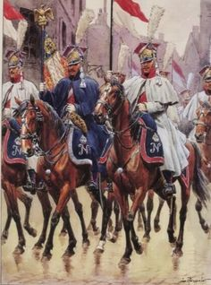 Polish cavalrymen of the French Imperial Guard