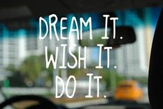 dream it  #DreamBig #BookRentercom