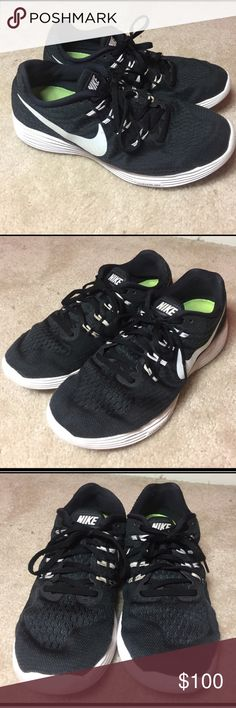 Nike Lunarlon Running Shoes Good condition, there are no holes on the shoe! These shoes are very comfy on feet, feels like your walking on clouds! Nike Shoes Sneakers