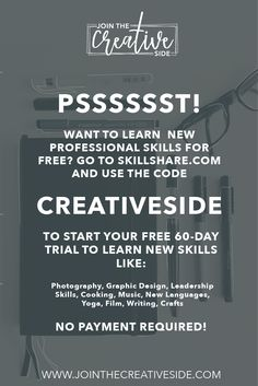 Skillshare is an online platform where you can learn new skills | Free trial | Two premium months | Skills | Learning | Photography, Graphic Design, Leadership Skills, Cooking, Music, New Languages, Yoga, Film, Writing, Crafts Skillshare Free, Skillshare, Learning New Skills, Skillshare Classes #Skillshare #SkillshareTutorial #Skillshareskills #LearningnewSkills