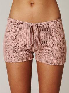 Chan Luu Cable Knit Shorts