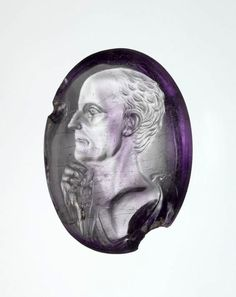 Amethyst intaglio portrait of a man. Period: Late Republican. Date: ca. 50–40 B.C. Culture: Roman.