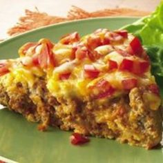 No taco shells are needed for enjoying the great taco flavor of this easy main-dish pie. Bettycrocker.com - Impossibly Easy Taco Pie (Gluten Free)