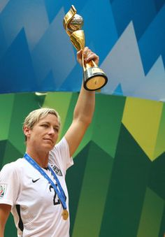 Abby Wambach celebrates the USA Women's Soccer World Cup Team win