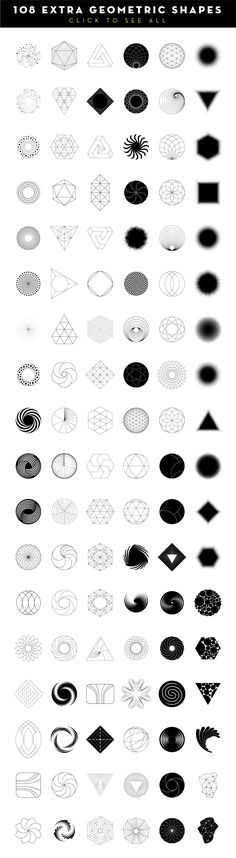 MASSIVE GEOMETRY BUNDLE more than 250 geometric symbols and icons: 60 sacred geometry items, 24 triangles, 30 dashed hexagons, 18 spinning objects, 12 basic Geometric Symbols, Geometric Logo, Geometric Designs, Geometric Mandala, Sacred Geometry Symbols, Geometric Patterns, Geometry Shape, Geometry Art, Graphisches Design
