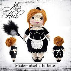 """Häkelanleitungen - Häkelanleitung Puppe """"Mademoiselle Juliette"""" eBook - ein Designerstück von MissHook bei DaWanda"""