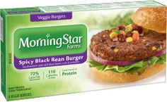 MorningStar Farms® Spicy Black Bean Burger – 10g of protein per serving