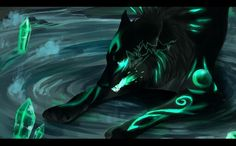 Name green crystal.a he wolf loves to ly on water has a crush on bluebell
