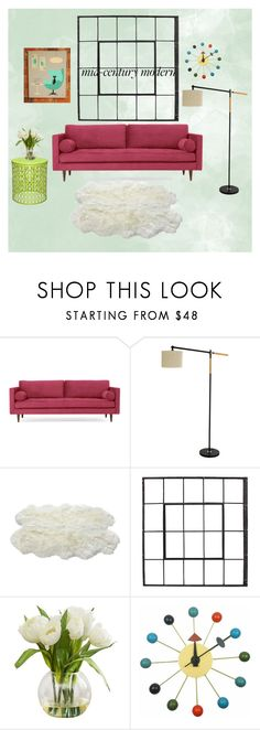 """""""#midcenturymodern"""" by petra-blefluf ❤ liked on Polyvore featuring interior, interiors, interior design, home, home decor, interior decorating, Joybird, Luxe Collection, Mod Made and modern"""