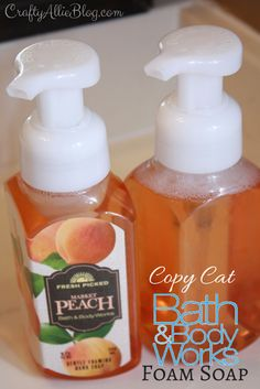 Crafty Allie: Copy Cat Bath and Body Foam Soap (using Suave shampoo, water, and . - Crafty Allie: Copy Cat Bath and Body Foam Soap (using Suave shampoo, water, and foam pump bottle) - Suave Shampoo, Diy Cleaning Products, Cleaning Recipes, Cleaning Solutions, Cleaning Hacks, Homemade Soap Recipes, Cleaners Homemade, Diy Cleaners, Cat Bath