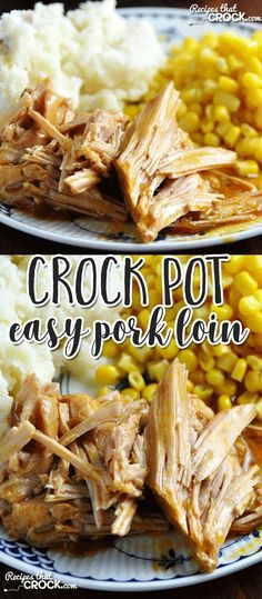 The flavor of this Easy Crock Pot Pork Loin is amazing!