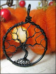 Small Halloween Full Moon Tree of Life by PhoenixFireDesigns