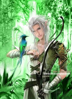This is Daniel. He's Lily's older brother and very protective of her. He's the only reason she escaped unscathed. He followed her shortly after. He's quiet, strong, brave, and caring. He loves everything that flies especially his dragon, Peony. Come say hello Male Fairy, Elf Warrior, Forest Elf, Fantasy Creatures, Mythical Creatures, Forest Creatures, Elves Fantasy, Fantasy Male, Fantasy Warrior