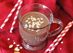 Healthy Chocolate Peanut Butter Oatmeal Smoothie