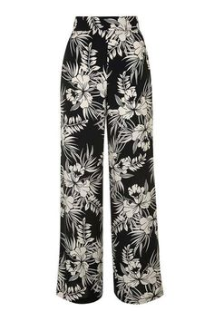 Floral Print Trousers from Topshop Floral Wide Leg Trousers, Printed Trousers, Wide Leg Pants, Floral Print Pants, Petite Pants, Looks Style, Topshop, Fashion Outfits, Women's Fashion