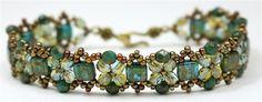 Bracelet- Pinnacle Bands by Deborah Roberti, Around the Beading Table.com (found at Red Panda Beads.com)
