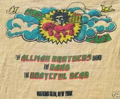 Vintage 1973 summer jam - Allman Brothers Band, The Band and Grateful Dead T-shirt