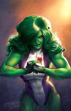 Totally Awesome Hulk No. 4 Cover Featuring She-Hulk Marvel Comics Poster - 30 x 46 cm Marvel Dc Comics, Hulk Marvel, Hulk 4, Hulk Comic, Bd Comics, Marvel Art, Comics Girls, Marvel Heroes, Avengers