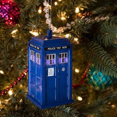 27f0e409b67 BBC DOCTOR WHO LIGHTED TARDIS ORNAMENT - TARDIS Ornament - Officially  Licensed