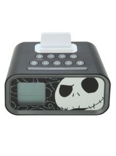 The Nightmare Before Christmas iHome Jack Skellington Dual Alarm Clock Speaker System